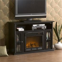 Electric Fireplace Tv Console Electric Fireplace Open Shelving