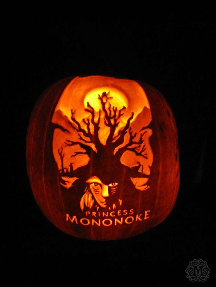 Princess Mononoke Easy Pumpkin Carving Pumpkin Carving Carving