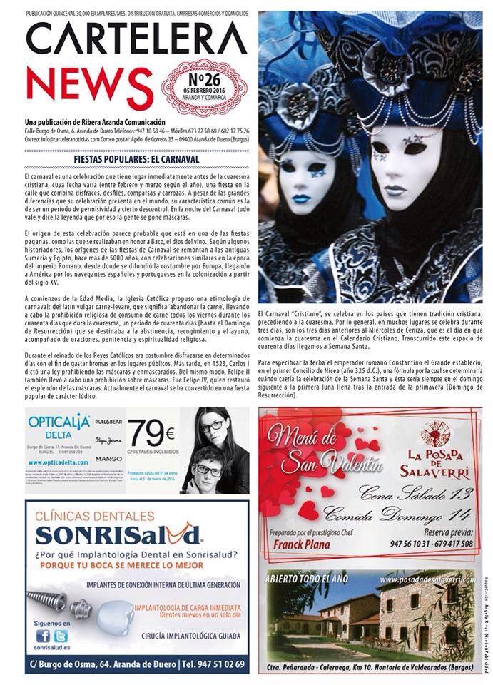Maquetacion Y Diseño De La Quincenal Revista Cartelera News En Aranda De Duero Disenos De Unas Fiestas Populares Tradicion Cristiana