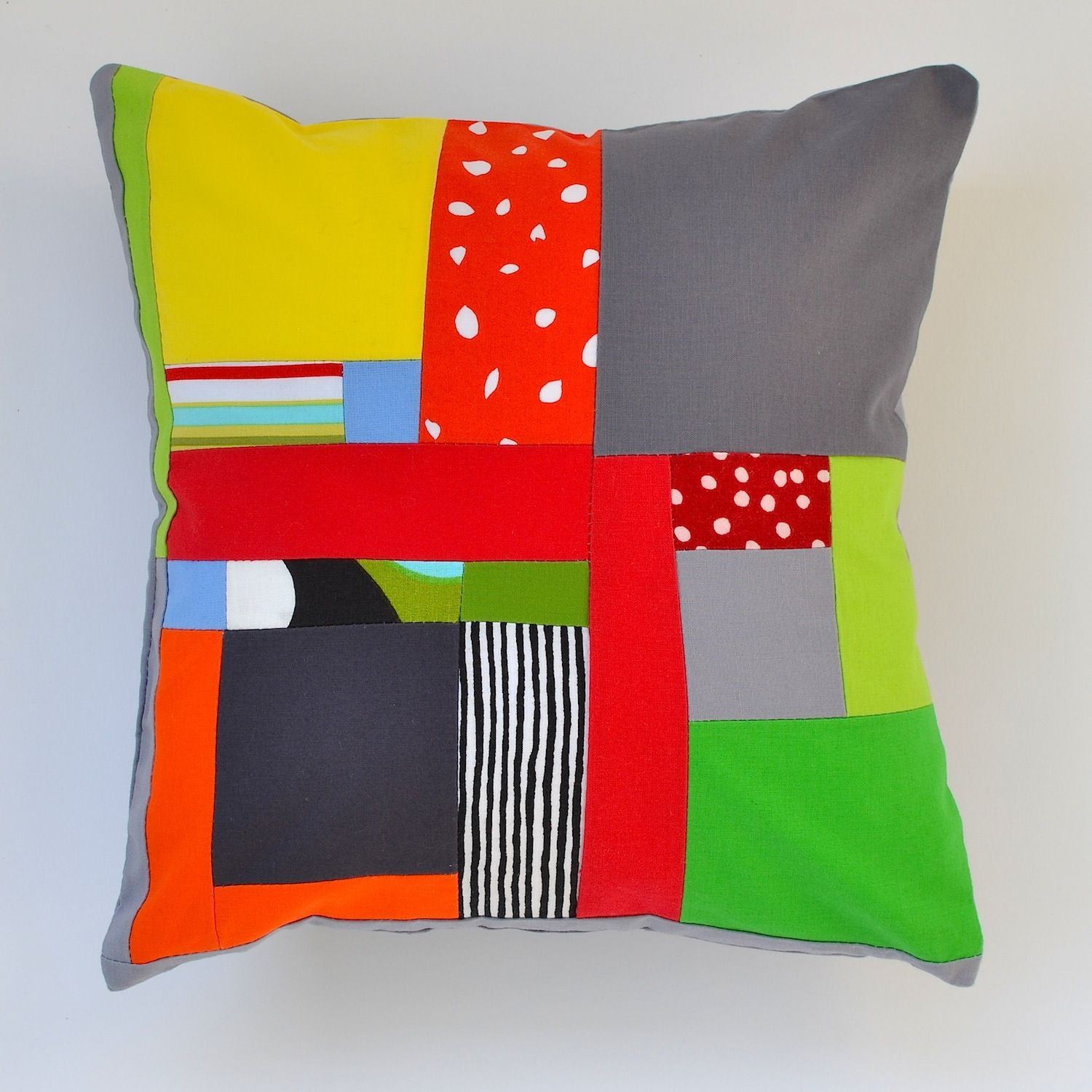 Funhouse I pillow (front) by Jaffworks