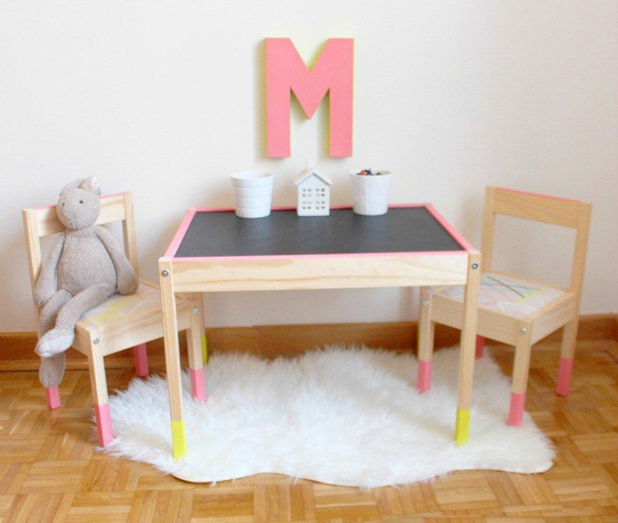 ikea latt table hack ikea kinderzimmer und kindertisch. Black Bedroom Furniture Sets. Home Design Ideas