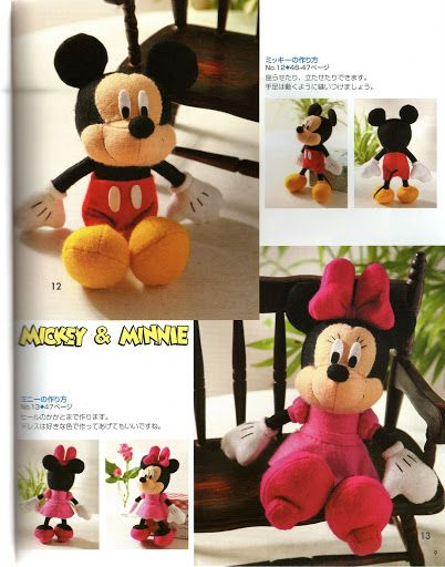 Free Mickey and Minnie Mouse Doll Patterns - Free Disney felt craft ...