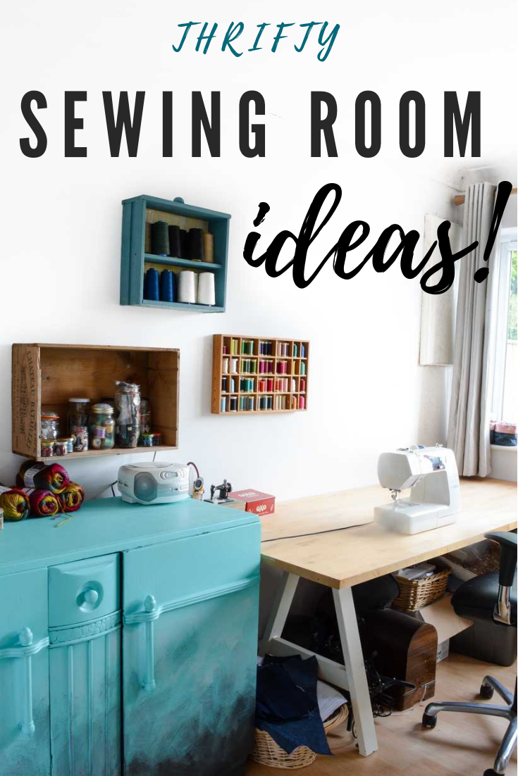 How to organize a sewing room on a budget images