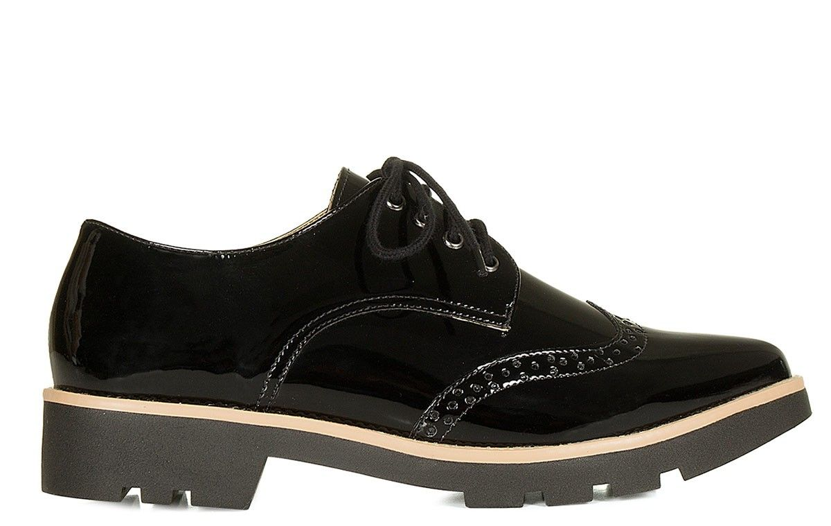 6cafb6f92 Oxford verniz preto Taquilla - Taquilla - Loja online de sapatos femininos