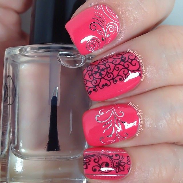 """Water decals are my new best friend! I am very artistically challenged and these make creating designs so easy. Just trim them to the right size, dip them in water and the decals slide right off the paper and are incredibly easy to place on the nails. You can get this set and many more from the @bornprettystore.  Item code is 10849. Did you know that they always offer free shipping? And you can save 10% off your entire order if you use code LLJ61 at checkout. Base polish is SOPI """"I'm Wired."""""""