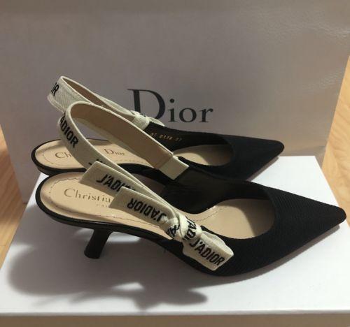 1f328f51ac3 Christian Dior Classic Slingback J adior Kitten Heel size 37