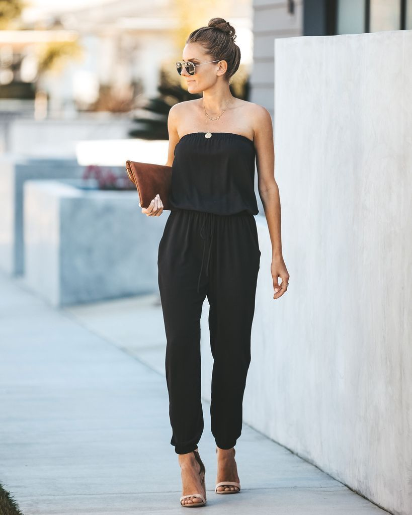 dfcaa0629 Jump Start Pocketed Strapless Jumpsuit - Black in 2019 | VICI VIP ...