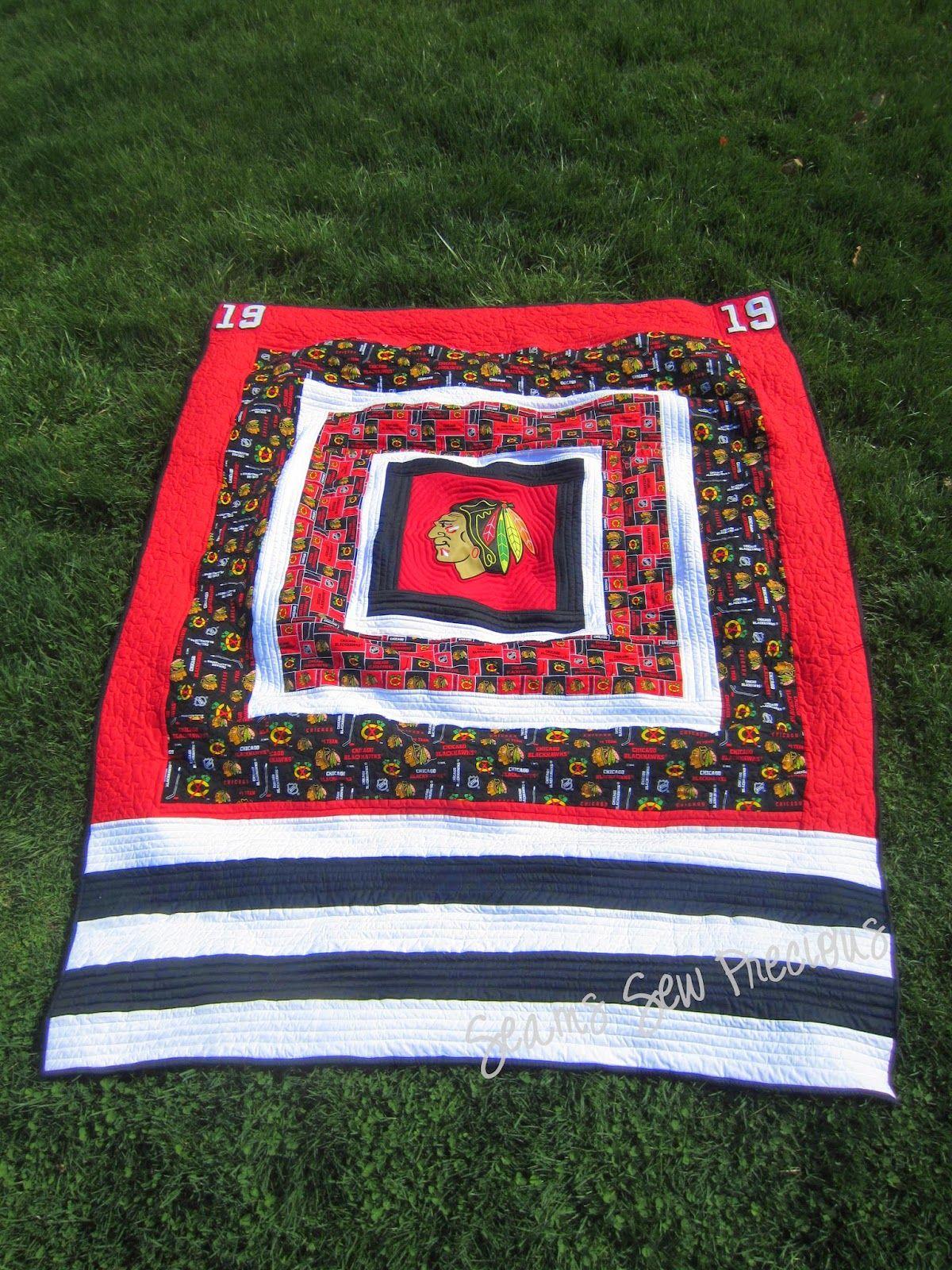 Chicago Blackhawks Graduation Quilt Quilt Creations