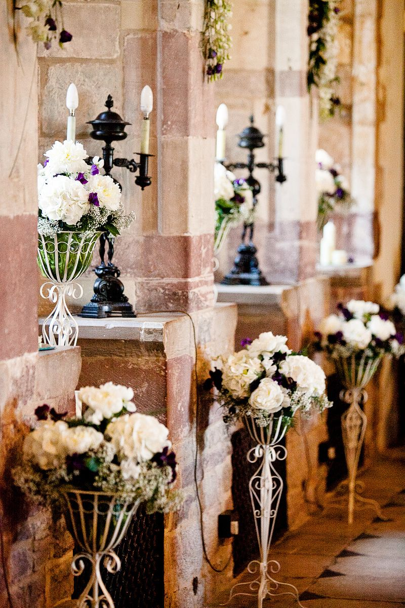 Beautiful floral arrangements in the Great Hall Castle