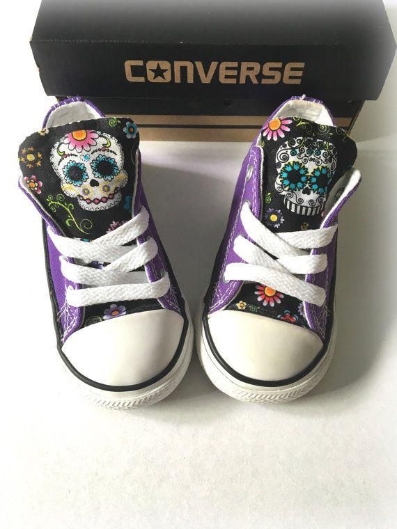 8c2fa78a55a Sugar Skull Converse Purple Custom Converse Sugar