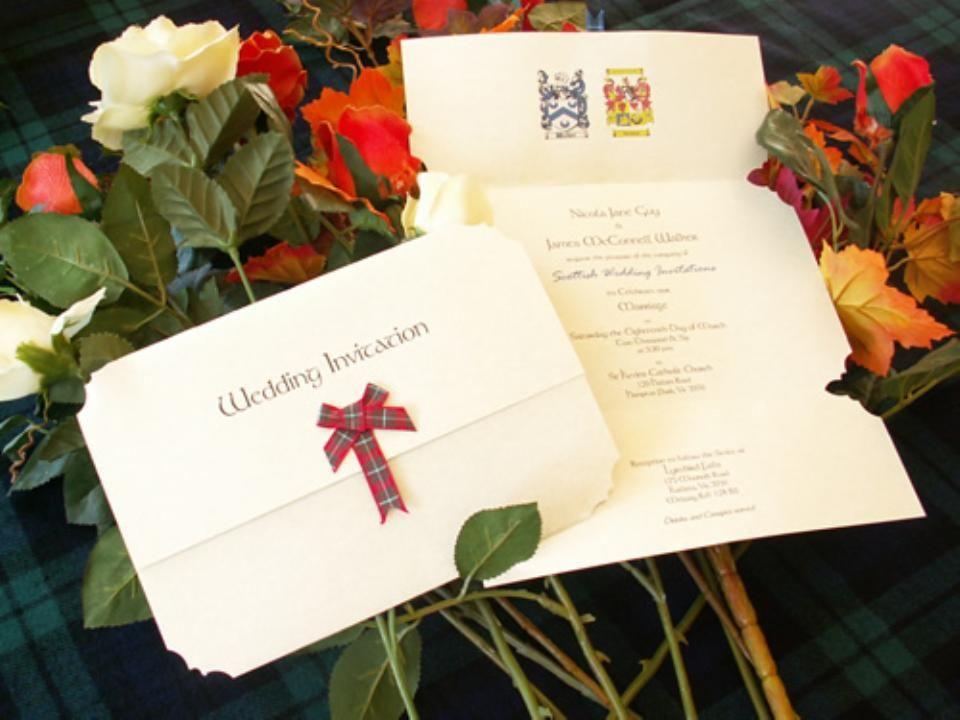 Scottish Themed Wedding   Wedding Invitations with Scottish, Celtic ...