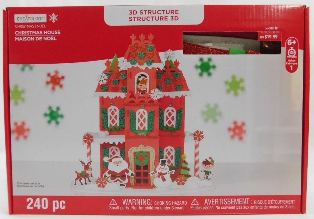 Creatology Structure 240 Pc Christmas House New Foam Kids Craft