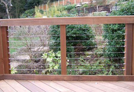 Stainless Steel Deck Wires | Backyard Facelift | Pinterest | Steel ...