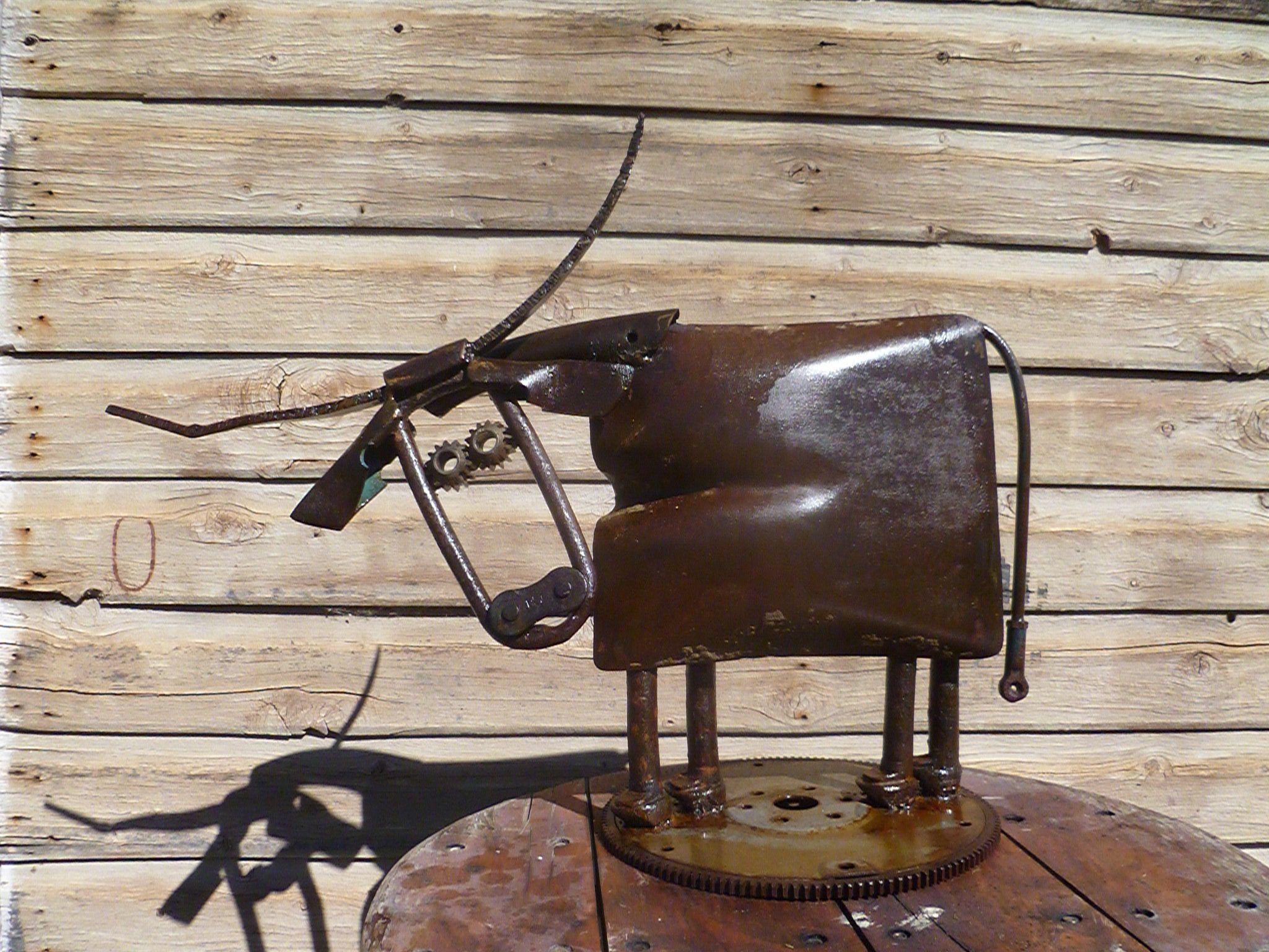 Scrap Metal I just had to make a cow! Scrap metal, Yard