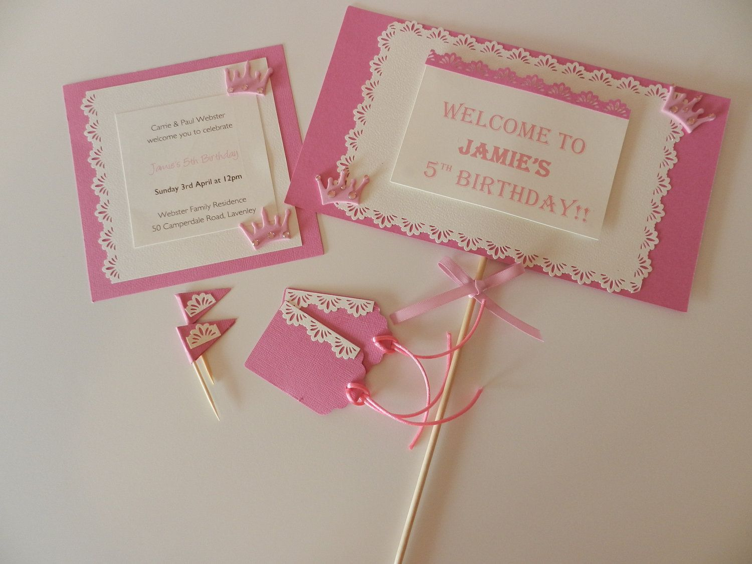 Princess party invitation and decoration pack by PaperAlleyAu ...