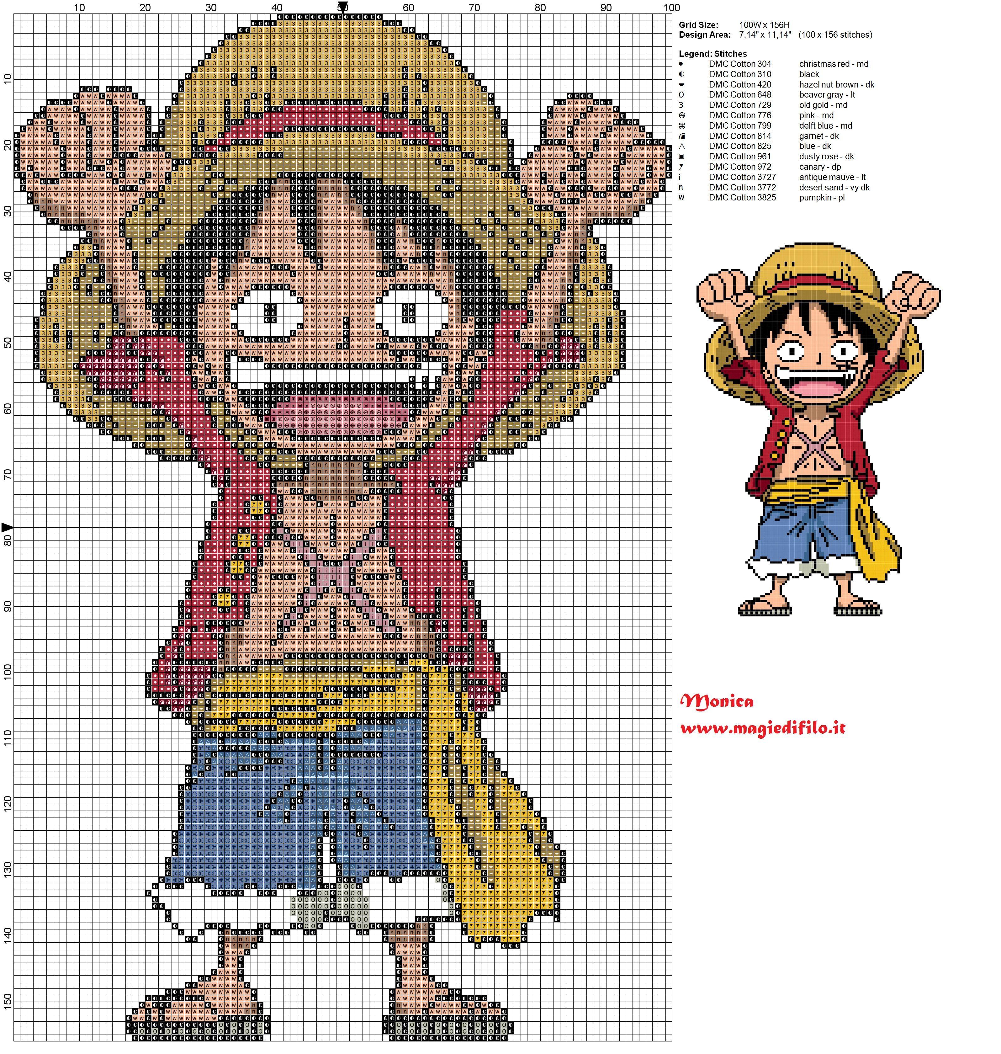 adoro esse anime クロスステッチ 図案 ステッチパターン 無料クロスステッチ