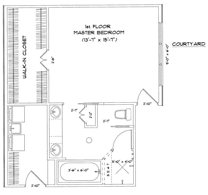 Master suite floor plans enjoy comfortable residence with for Master bathroom suite designs