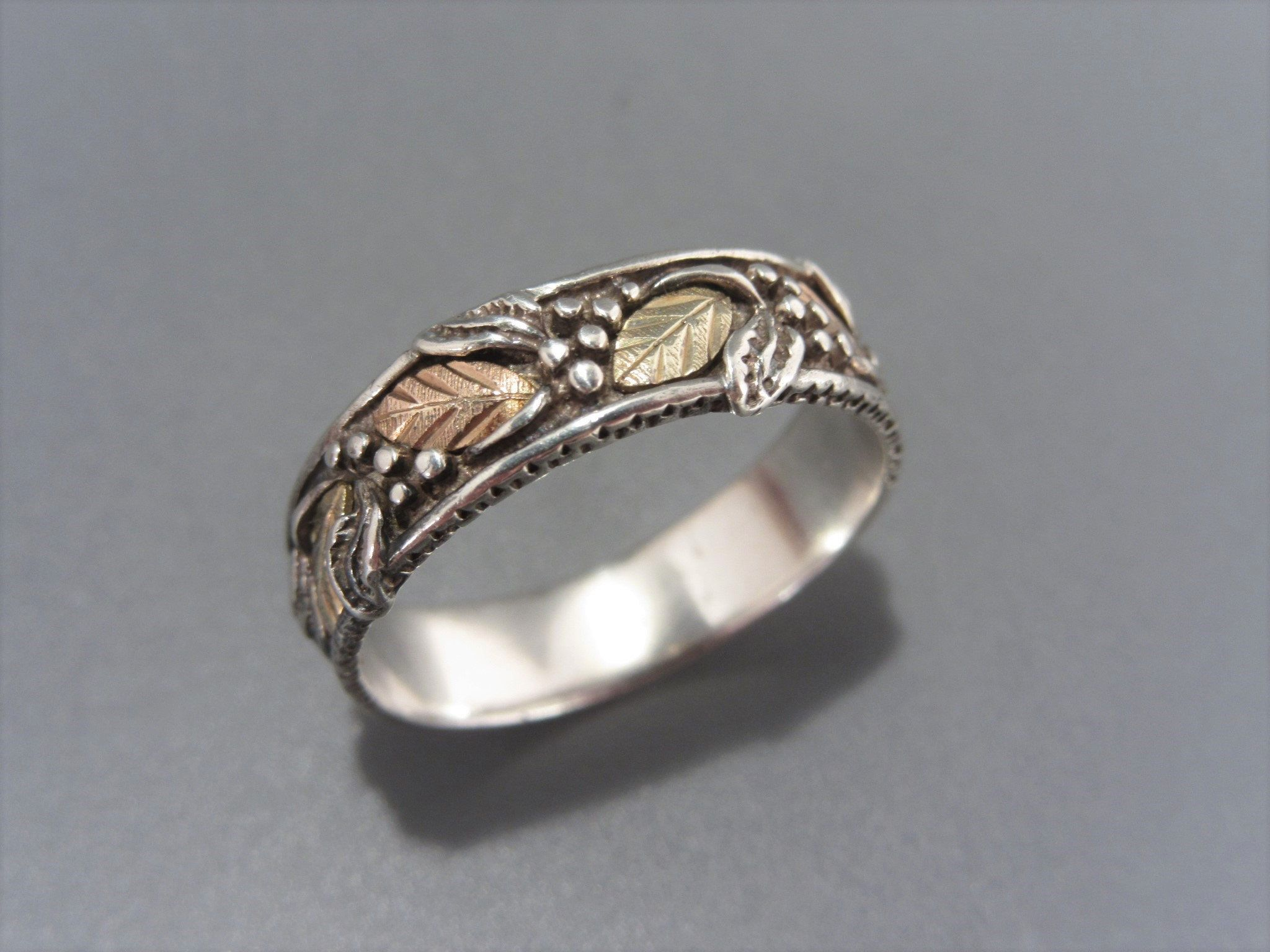 Vintage Sterling Silver Link Chain Band Ring Size 9
