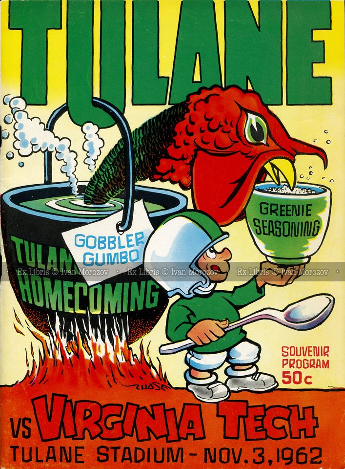 1962.11.03. Virginia Tech (Hokies) at Tulane University