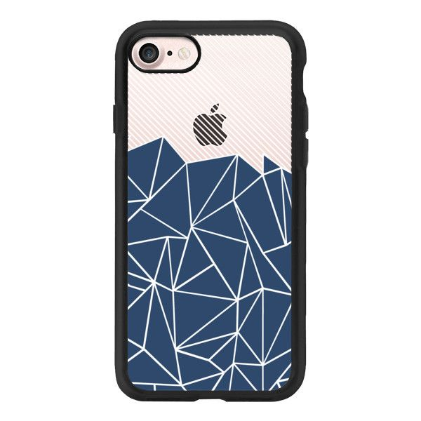 Ab Lines 45 Navy Transparent - iPhone 7 Case And Cover (£31) ❤ liked on Polyvore featuring accessories, tech accessories, iphone case, apple iphone case, transparent iphone case, iphone cover case, clear iphone case and iphone cases