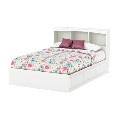South Shore Furniture Bed Step One Storage With Bookcase Headboard Platform Bed With Drawers Full Size Storage Bed Bed Frame With Drawers