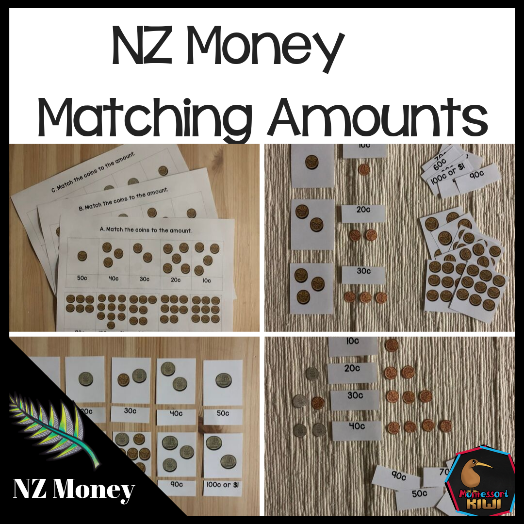 New Zealand Money Level 1 Matching Amounts