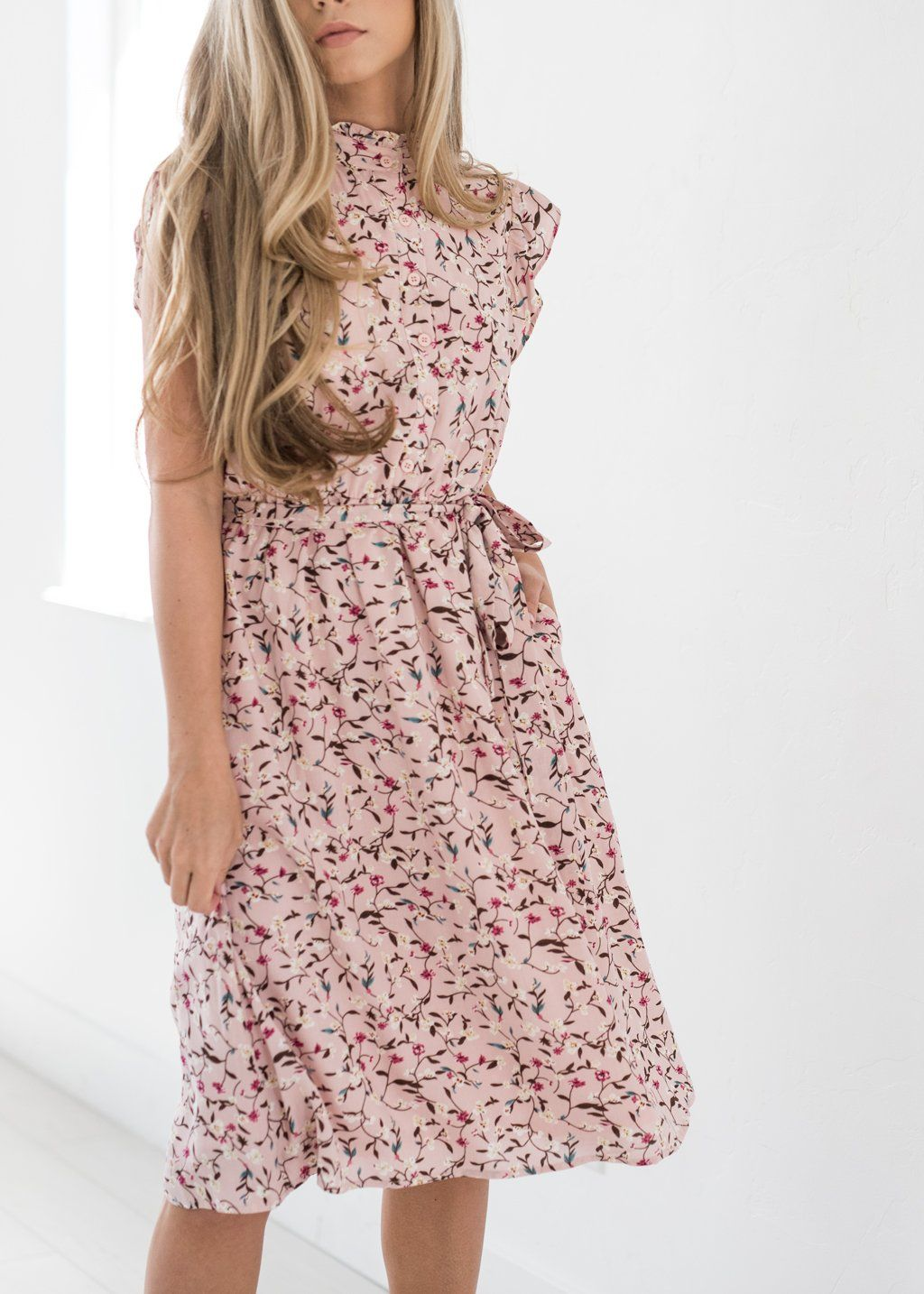 5dbc37c8360 Color Me Pink Floral Ruffle Dress-JessaKae