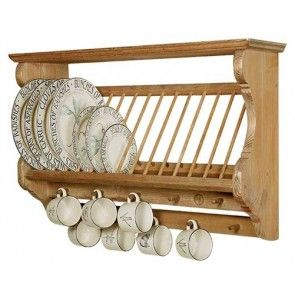 Penny Pine Single Exmoor Midi Pine Plate Rack #plateracks