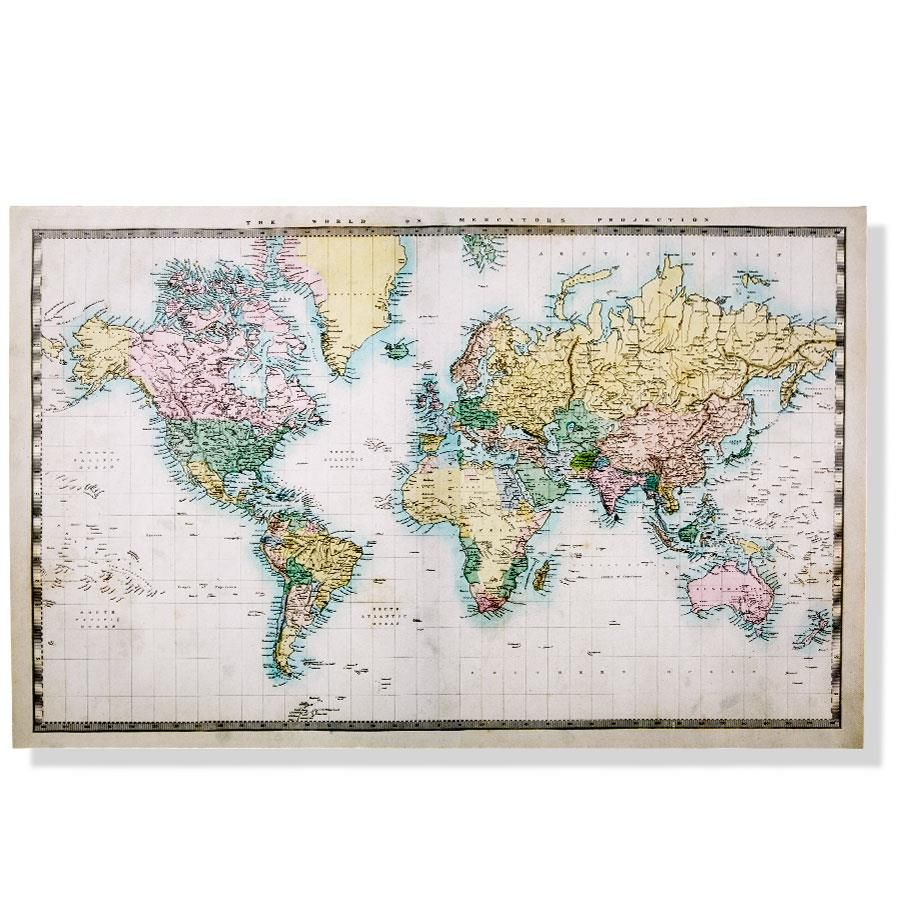 Canvas world map kmart crafts pinterest apartments canvas world map kmart gumiabroncs Choice Image