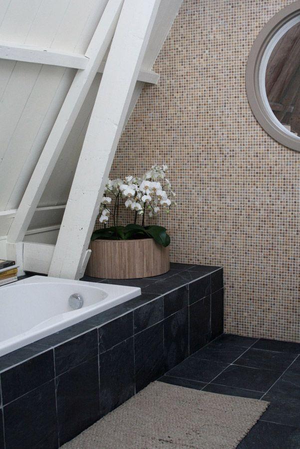 Natuurlijke badkamer, mozaïek tegels badkamer   Badkamer   Pinterest