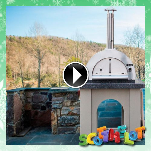 duro nxr wood burning pizza oven includes cooking dome brick hearth stucco base - Wood Burning Pizza Oven