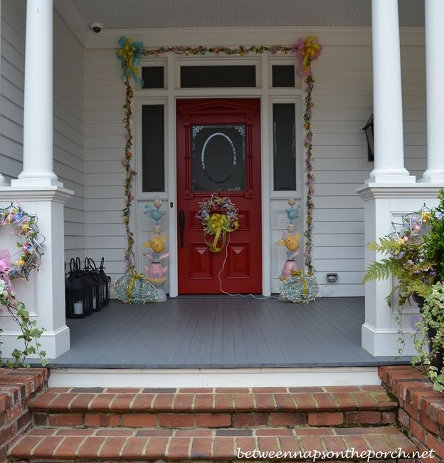 Decorating For Easter Shut The Front Door Porch Decorating