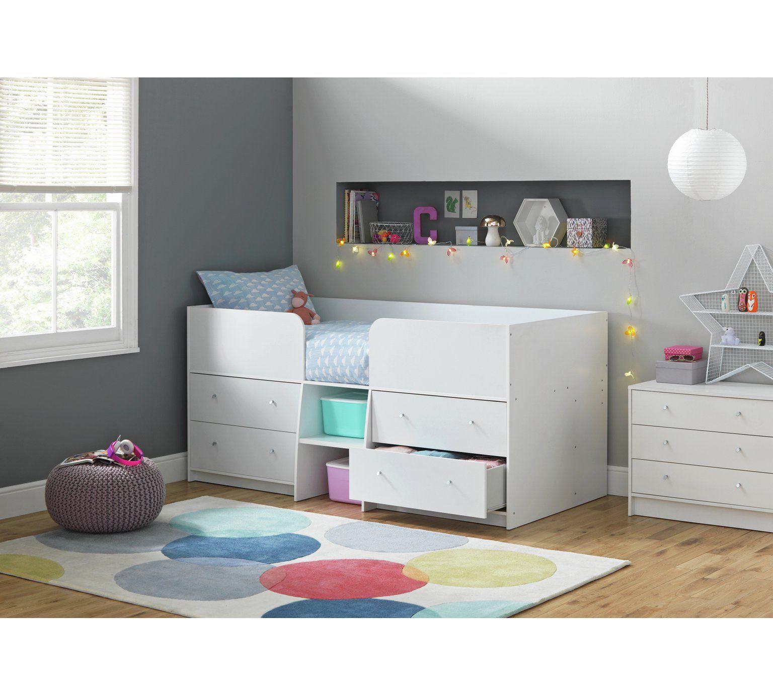 Buy HOME Malibu Shorty Mid Sleeper White at Argos.co.uk