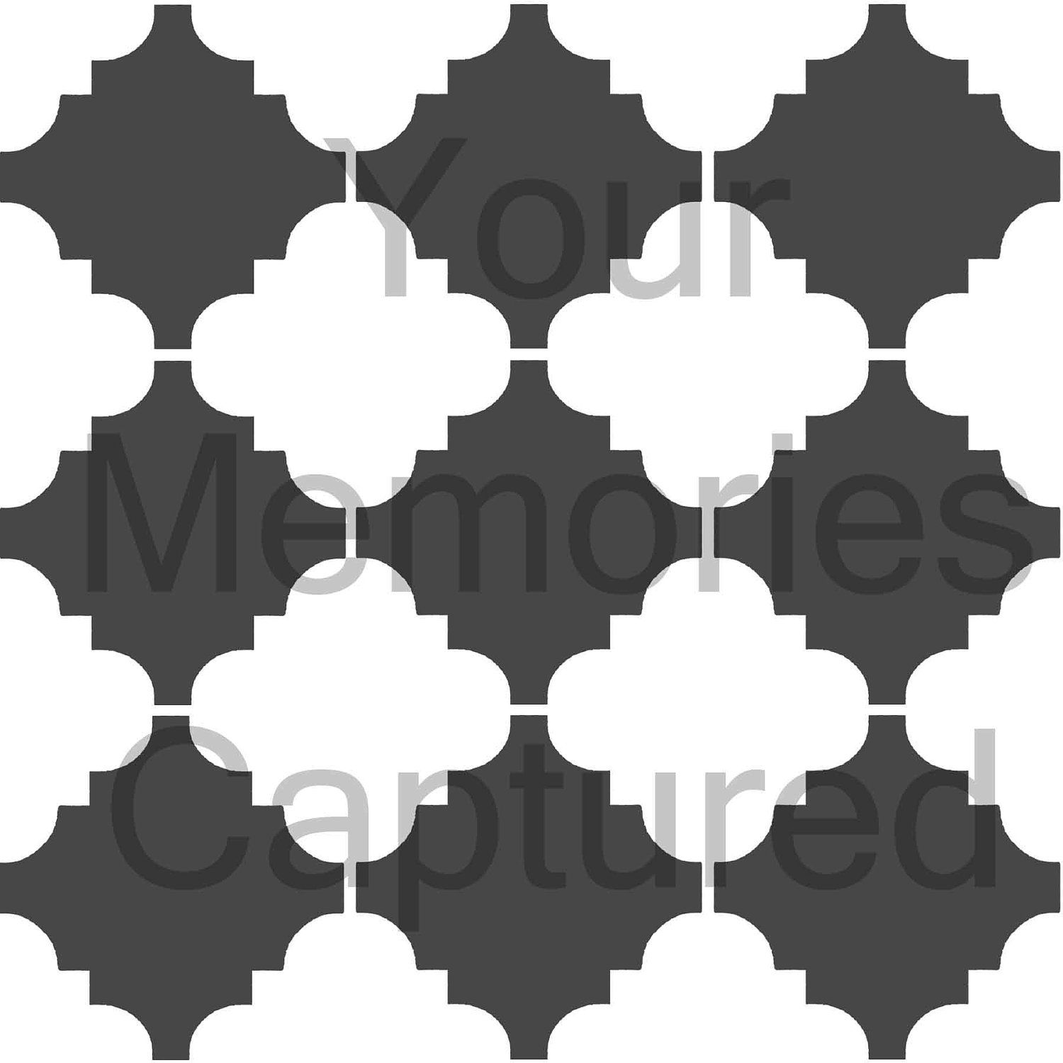 Modern Quatrefoil Reusable Stencil - for fabric, wood, paper, canvas on outhouse prints, outhouse posters, outhouse ornaments, outhouse signs, outhouse theme decor, outhouse kits, outhouse decorations, outhouse fabric, outhouse silhouette, outhouse foam, outhouse stamps,