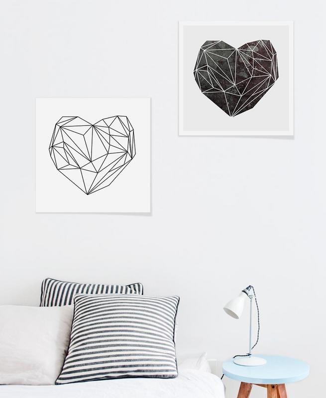 Heart Graphic 4 als Premium Poster von Mareike Böhmer | JUNIQE ...