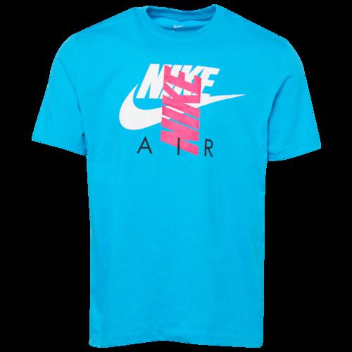 Nike City Brights Air T Shirt Light Blue Fury White Pink In 2020 Nike Clothes Mens Nike Air Shirt Mens Shirts