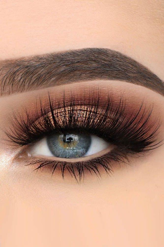 Idéias de maquiagem de olhos azuis ❤ Leia mais: www.weddingforwar … #weddingforward #b | Papo de Maquiagem