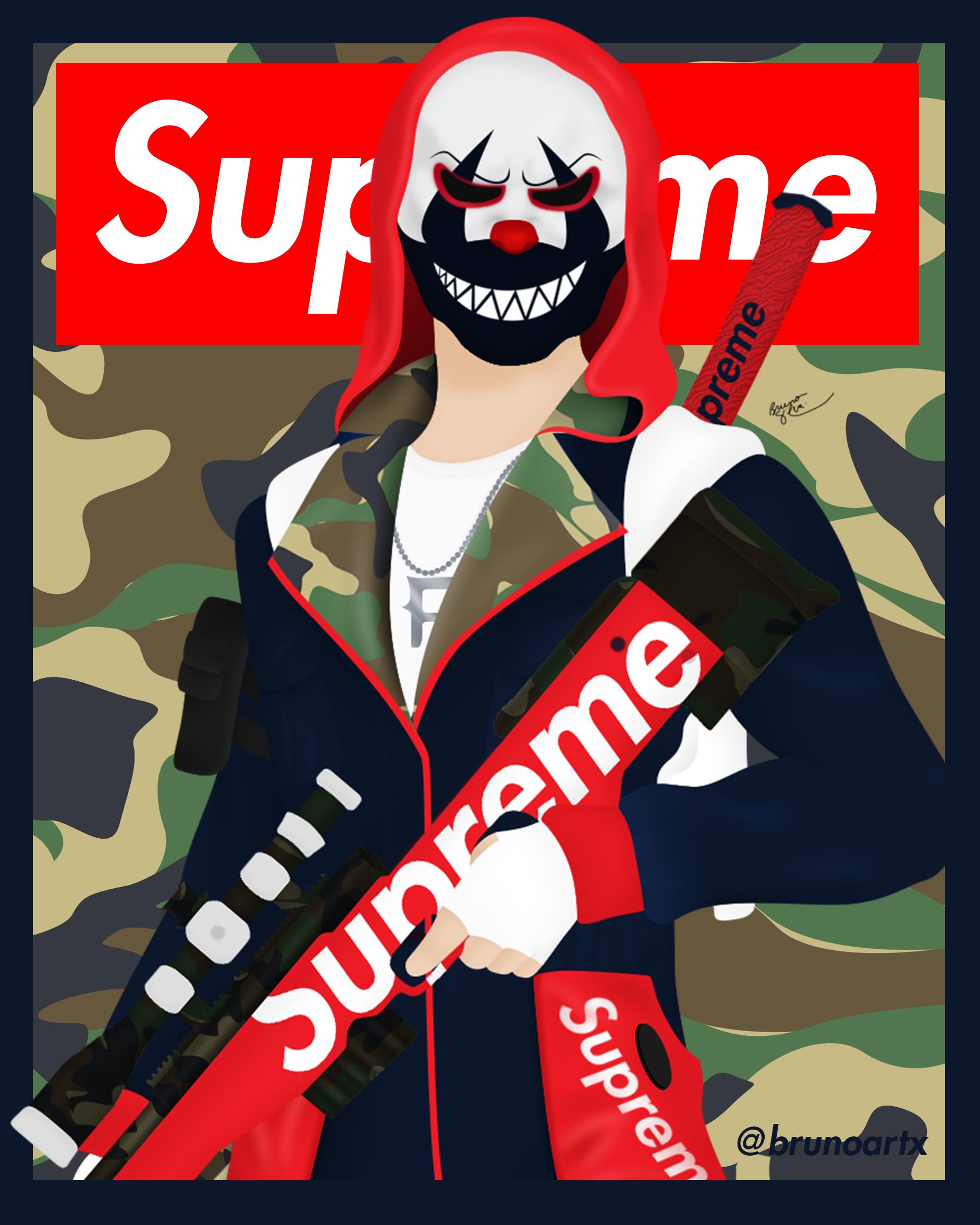 Supreme Top Criminal Freefire Brunoartx Ilustracoes Arte Supreme