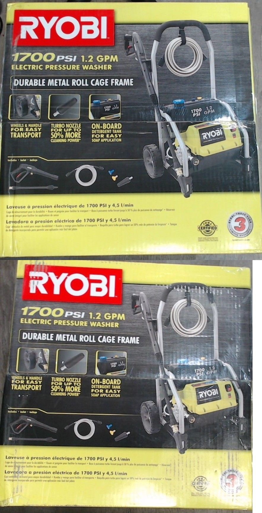 Tools 42346 Ryobi 1700 Psi 1 2 Gpm Electric Pressure Washer St 2190 Ry14122 It Now Only 148 On Ebay