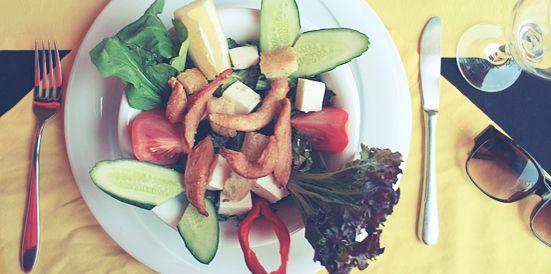 Caesar salad - Copyright Louise Hannu.