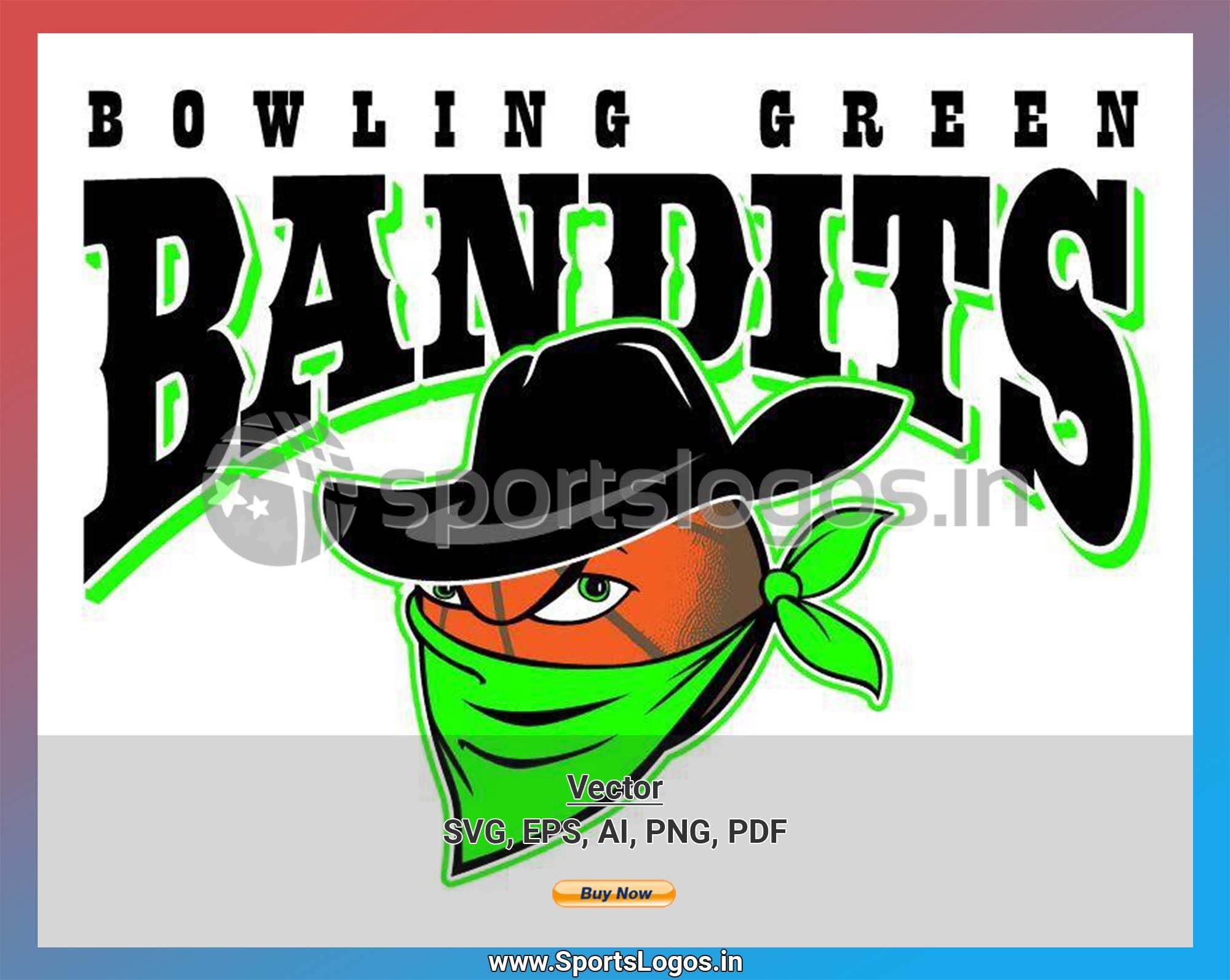 Bowling Green Bandits Basketball Sports Vector SVG Logo