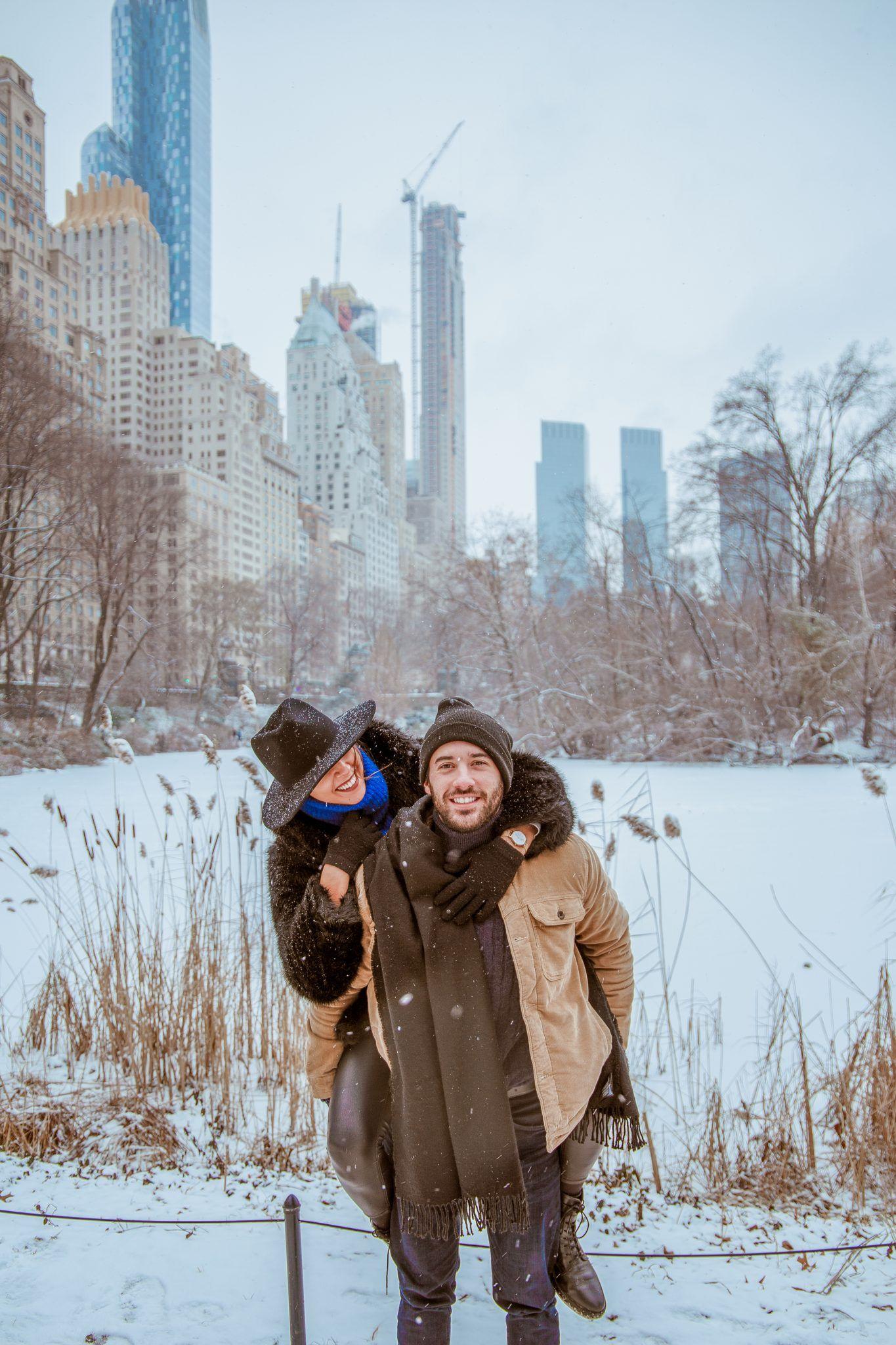Central Park New York Couple