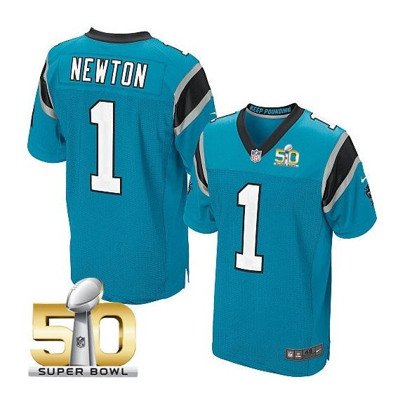 Carolina Panthers #1 Cam Newton Blue 2016 Super Bowl 50 Bound Elite  hot sale