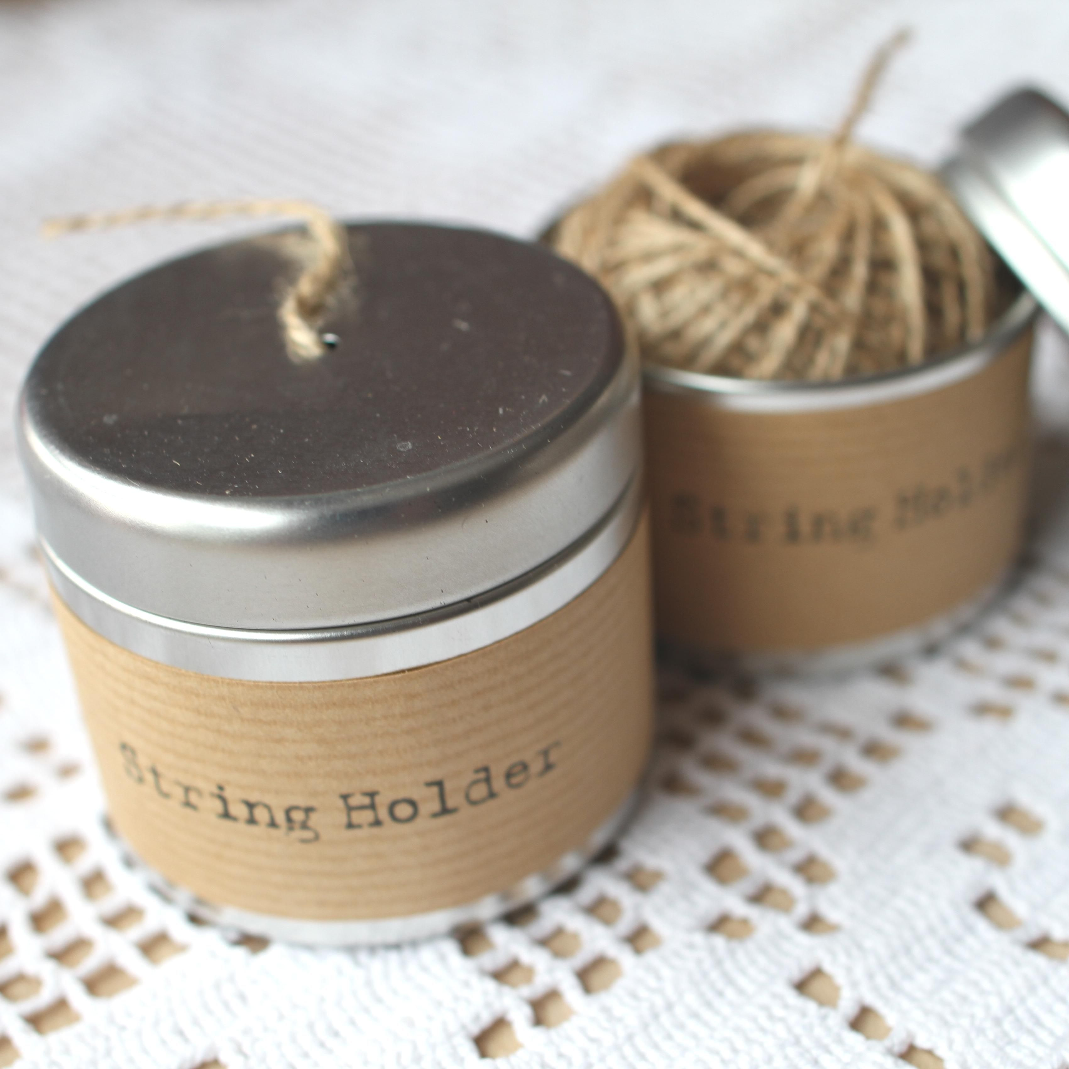 so cute string in a tin, perfect giveaway!
