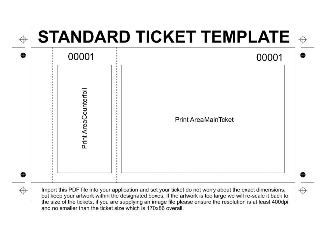 free printable raffle tickets template template ticket template