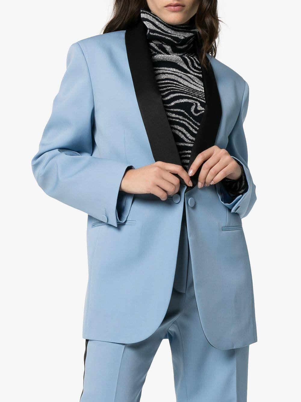 79e8f3c8f7c6a Calvin Klein 205W39nyc two-tone wool tuxedo jacket
