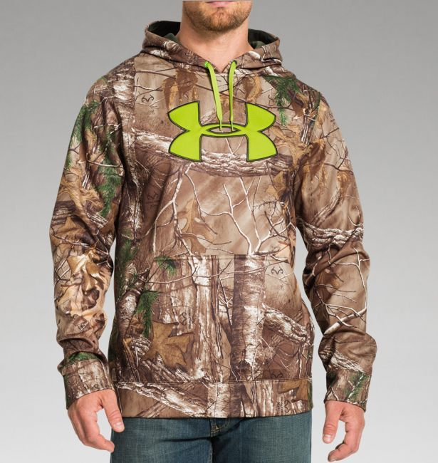 ed6ca14a2d204 Men's UA ColdGear® Infrared Armour® Fleece Scent Control Hoodie ...