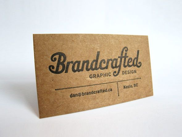Kraft with black letterpress like that vintage font i love i like these kraft paper business cards examples the rough tecture lends itself to the roughness in the caves its possible i could introduce colour here reheart Images