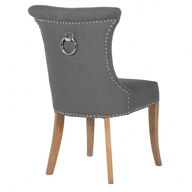 ring back dining chair timed stand test kngf dark grey studded with graydiningchairs