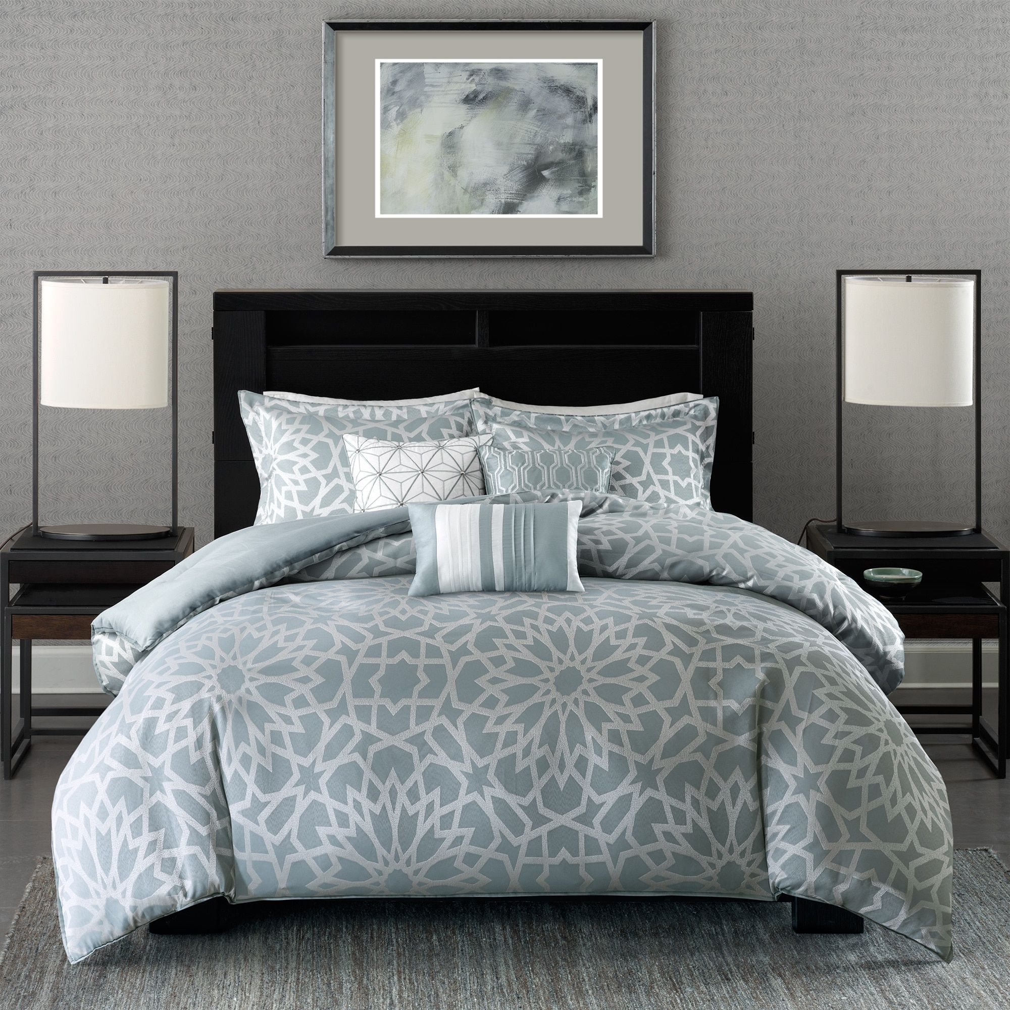 blue grey california king queen comforter sets free shipping on